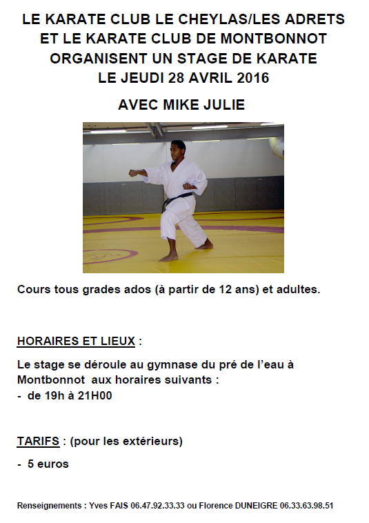 Affiche mike 2016