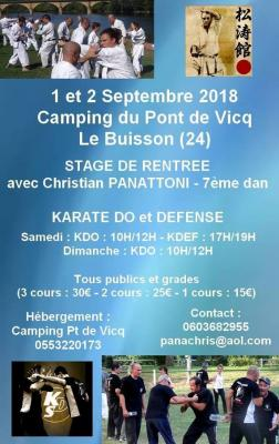 Stage christian septembre 2018